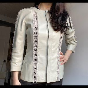 Authentic Vintage CHANEL Leather Lambskin Jacket